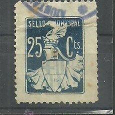 Sellos: F4-3 BARCELONA - SELLO MUNICIPAL - 25 CTS. AZUL. Lote 33639685