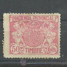 Sellos: F4-3 HACIENDA PROVINCIAL - TIMBRE - 50 CNTS. ROJO. Lote 33640022