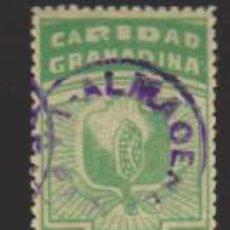 Sellos: CARIDAD GRANADINA. 5 CTMOS. VERDE. USADO.. Lote 33684377