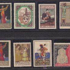 Sellos: COLECCION DE VIÑETAS DE LA EXPOSICION INTERNACIONAL DE BARCELONA 1929, 6 PRIMERAS CON GOMA ORIGINAL. Lote 34068999