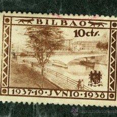 Sellos: SELLO **BILBAO 1937 - 1938** 10 CTS (VER SELLOS GUERRA CIVIL EN VENTA). Lote 34311274