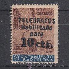 Sellos: ,,BARCELONA TELEGRAFOS 9 SIN CHARNELA, HABILITADO,. Lote 34390017