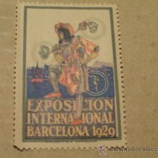 Sellos: VIÑETA EXPOSICION INTERNACIONAL BARCELONA 1929. Lote 34391102