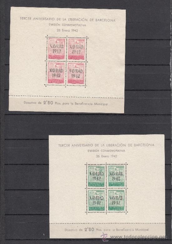 ,,BARCELONA 40/1 SIN GOMA, NAVIDAD 1942 (Sellos - España - Guerra Civil - Beneficencia)