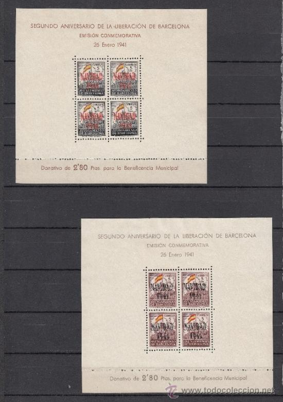 ,,BARCELONA 31/2 SIN GOMA, NAVIDAD 1941 (Sellos - España - Guerra Civil - Beneficencia)