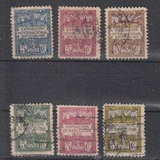 Sellos: ,,BARCELONA 1/6 USADA, VISTAS EXPOSICION 1929. Lote 52553094