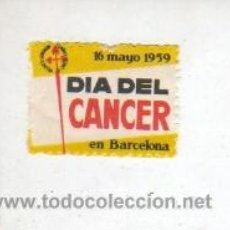 Sellos: VIÑETA DEL DIA DEL CANCER 1959 EN BARCELONA. Lote 205512040