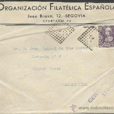 Sellos: GUERRA CIVIL, SOBRE CON CENSURA MILITAR DE SEGOVIA 1938. Lote 34463283