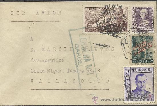 GUERRA CIVIL, SOBRE CON CENSURA MILITAR DE BARCELONA 1939 (Sellos - España - Guerra Civil - De 1.936 a 1.939 - Cartas)