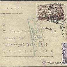 Sellos: GUERRA CIVIL, SOBRE CON CENSURA MILITAR DE BARCELONA 1939. Lote 34463292