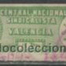 Sellos: 4067-SELLO FALANGE SINDICATO CNS FALANGE LOCAL VALENCIA.SPAIN WAR.8 PESETAS. Lote 34488410