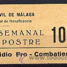 Sellos: ESPAÑA - GUERRA CIVIL. LOCAL MÁLAGA SOFIMA 163. Lote 34736190