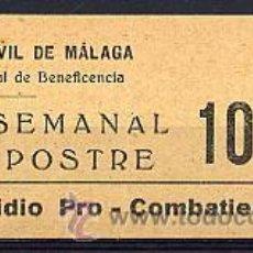"""Sellos: ESPAÑA - GUERRA CIVIL. LOCAL MÁLAGA SOFIMA 163A """" DÍA """" SIN ACENTO.. Lote 34736265"""
