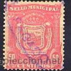 Sellos: ESPAÑA - GUERRA CIVIL. LOCAL MÁLAGA. MUNICIPAL. 50CTS. ROSA. Lote 34749839