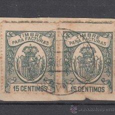 Sellos: ,,FISCAL FACTURAS (TIMBRE PARA) 15 CTS. PAREJA USADA CORREOS, . Lote 34804149