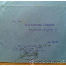 Sellos: UNIQUE PIECE POSTAL HISTORY POSTAL SERVICE FRANCHISE MURCIA NATIONAL POST AND TELECOMMUNICATIONS EXP. Lote 35056274
