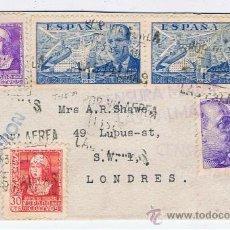 Sellos: CIRCULADO 1939 DE LAS PALMAS A LONDRES CON CENSURA MILITAR. Lote 35441335