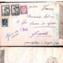 Sellos: 1938.- CARTA TRICOLOR C. AEREO DE MADRID A GIRANDE.ETIQUETA Y MARCA DE CENSURA REPUBLICANA EN VERDE.. Lote 35444302