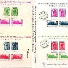 Sellos: 1937 EMISION EMITIDA EN COIN (MÁLAGA) H.B. Nº 3/7 VARIEDADES Y CAMBIOS DE COLOR MATASELLADAS . Lote 35624666