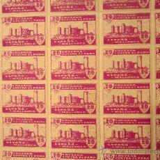 Francobolli: PLIEGO COMPLETO DE 100 SELLOS CRUZADA CONTRA EL PARO. MALLORCA. 20 CTS. SERIE A. Lote 35991249