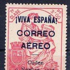 Sellos: BURGOS 1936 CORREO AEREO 3 PTS NUEVO** EDIFIL 21 VALOR 2002 CATALOGO 5.-- EUROS. Lote 42151533