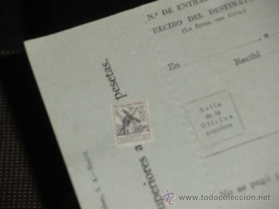 Sellos: GIRO POSTAL COMPLETO. CON TIMBRE DE MUTUALIDAD POSTAL Y SELLO SECO DE CORREOS. - Foto 3 - 36273921