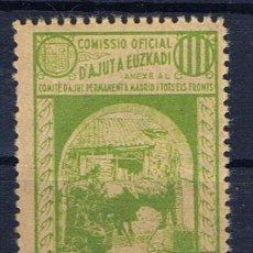 Sellos: COMISSIO OFICIAL D´AJUT A EUZKADI, GUERRA CIVIL, GUILLAMON Nº 2337 **. Lote 213623741