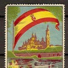 Sellos: VIÑETA OBRAS DE CONSOLIDACION DEL PILAR ZARAGOZA . Lote 36510061