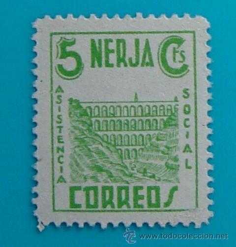 NERJA, ASISTENCIA SOCIAL, CORREOS, 5 CTS, NUEVO CON GOMA (Sellos - España - Guerra Civil - De 1.936 a 1.939 - Nuevos)