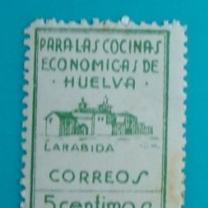 Sellos: PARA LAS COCINAS ECONOMICAS DE HUELVA, LA RABIDA, CORREOS 5 CTS, SELLO NUEVO SIN GOMA. Lote 36983190