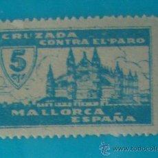 Sellos: MALLORCA 5 CTS. CRUZADA CONTRA EL PARO NUMERACION EN EL DORSO, NUEVO CON GOMA. Lote 36989221
