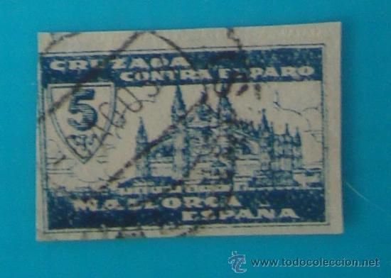 MALLORCA 5 CTS, CRUZADA CONTRA EL PARO, CIRCULADO (Sellos - España - Guerra Civil - De 1.936 a 1.939 - Nuevos)