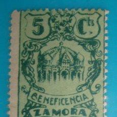 Sellos: SELLO VIÑETA ZAMORA BENEFICENCIA, NUEVO CON GOMA. Lote 36993182