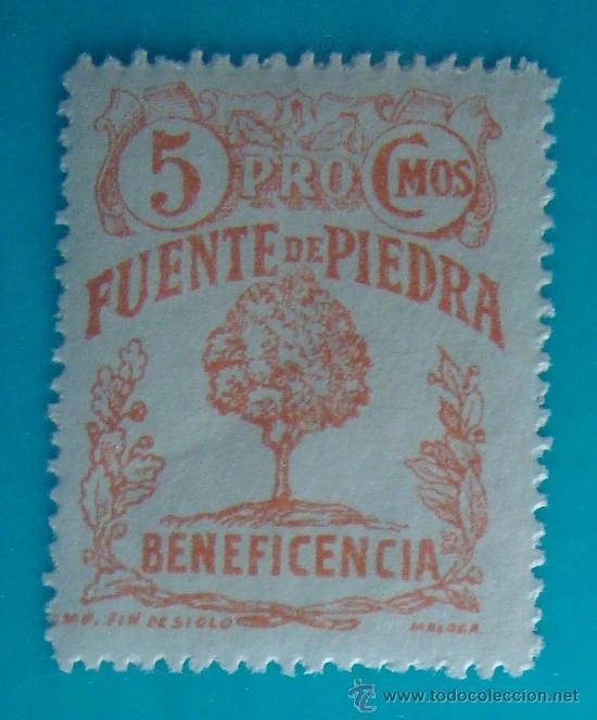 FUENTE DE PIEDRA, BENEFICENCIA, 5 CMOS, NUEVO CON GOMA (Sellos - España - Guerra Civil - De 1.936 a 1.939 - Nuevos)