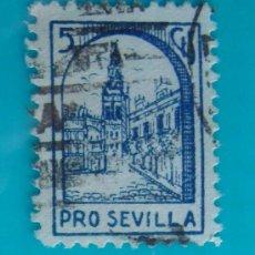 Sellos: GRANADA, CORREOS, BENEFICENCIA, DIPUTACION PROVINCIAL, 5 CTS, CIRCULADA. Lote 36994204