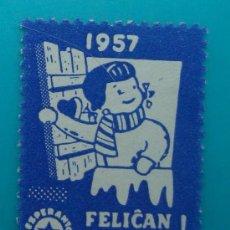 Sellos: FELICAN NOVJARON, FELIZ NAVIDAD, ESPERANTO, 1957, NUEVO SIN GOMA. Lote 37005379