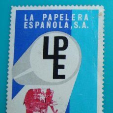 Sellos: LA PAPELERA ESPAÑOLA S.A., PAPEL PARCHEMIN, CIRCULADO. Lote 37007759