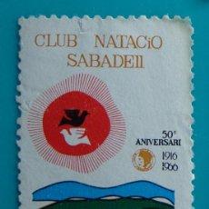 Sellos: VIÑETA, CLUB NAUTICO SABADELL, 50 ANIVERSARIO 1916 - 1966 NUEVO SIN GOMA. Lote 37032154