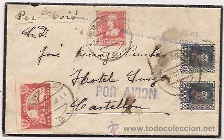 CENSURA DE LA GUERRA CIVIL. PALMA DE MALLORCA. 1938 (Sellos - España - Guerra Civil - De 1.936 a 1.939 - Cartas)