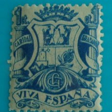 Sellos: VIVA ESPAÑA GRANADA CARIDAD 1 CT, NUEVO CON GOMA. Lote 37056511