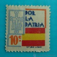 Sellos: ASTURIAS, POR LA PATRIA, 10 C, NUEVO CON GOMA. Lote 37056735