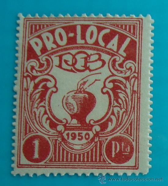 SELLO, VIÑETA PRO LOCAL 1950 1 PTA, NUEVO SIN GOMA (Sellos - España - Guerra Civil - De 1.936 a 1.939 - Nuevos)