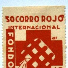 Sellos: SOCORRO ROJO INTERNACIONAL S.R.I FONDO DE AYUDA 10 CTS GUERRA CIVIL . Lote 37074873
