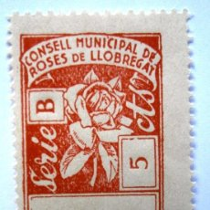Sellos: ROSSES DE LLOBREGAT-SANT FELIU DE LLOBREGAT 5 CTS CONSELL MUNICIPAL . Lote 37076124
