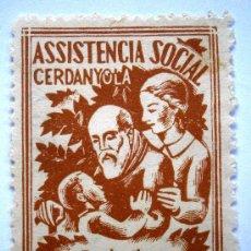 Sellos: CERDANYOLA ASISTENCIA SOCIAL 5 CTS GUERRA CIVIL . Lote 37076495