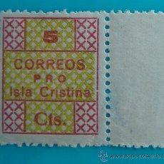 Sellos: SELLO VIÑETA PRO ISLA CRISTINA CORREOS 5 CTS NUEVO CON GOMA. Lote 37092611
