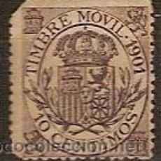 Sellos: FISCAL TIMBRE MOVIL AÑO 1901. Lote 37093812