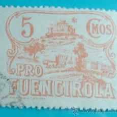 Sellos: SELLO VIÑETA PRO FUENGIROLA 5 CMOS, CIRCULADO. Lote 37160264