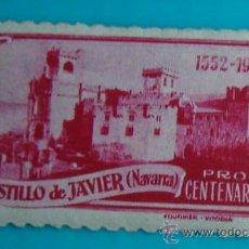 Sellos: SELLO VIÑETA PRO CENTENARIO CASTILLO DE JAVIER - NAVARRA, NUEVO CON GOMA. Lote 37160354