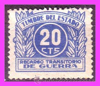 FISCALES 1937 RECARGO TRANSITORIO DE GUERRA, ALEMANY Nº 3 * * (Sellos - España - Guerra Civil - De 1.936 a 1.939 - Nuevos)